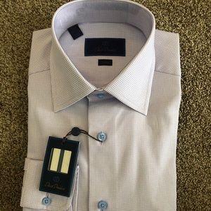 David Donahue Trim Fit Dress Shirt 15.5 x 34/35